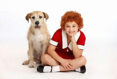 Sunny as Sandy and Issie Swickle as Annie. (C) Joan Marcus.