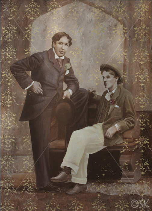 Oscar and Bosie hand tinted
