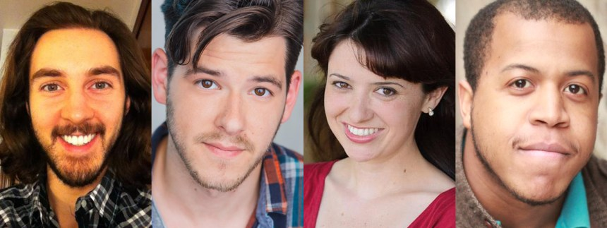 (left to right) The New Colony's 2017 Season playwrights: Sean Kelly, Connor McNamara, Beth Kander and Michael Allen Harris.