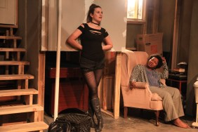 (left to right) Sarah Gise and Elana Elyse in Interrobang Theatre Project's Midwest premiere of STILL by Jen Silverman, directed by Georgette Verdin. Photo by Emily Schwartz.
