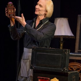 Delia Kropp in About Face Theatre's production of I AM MY OWN WIFE, by Doug Wright, directed by Artistic Director Andrew Volkoff. Photo by Michael Brosilow.