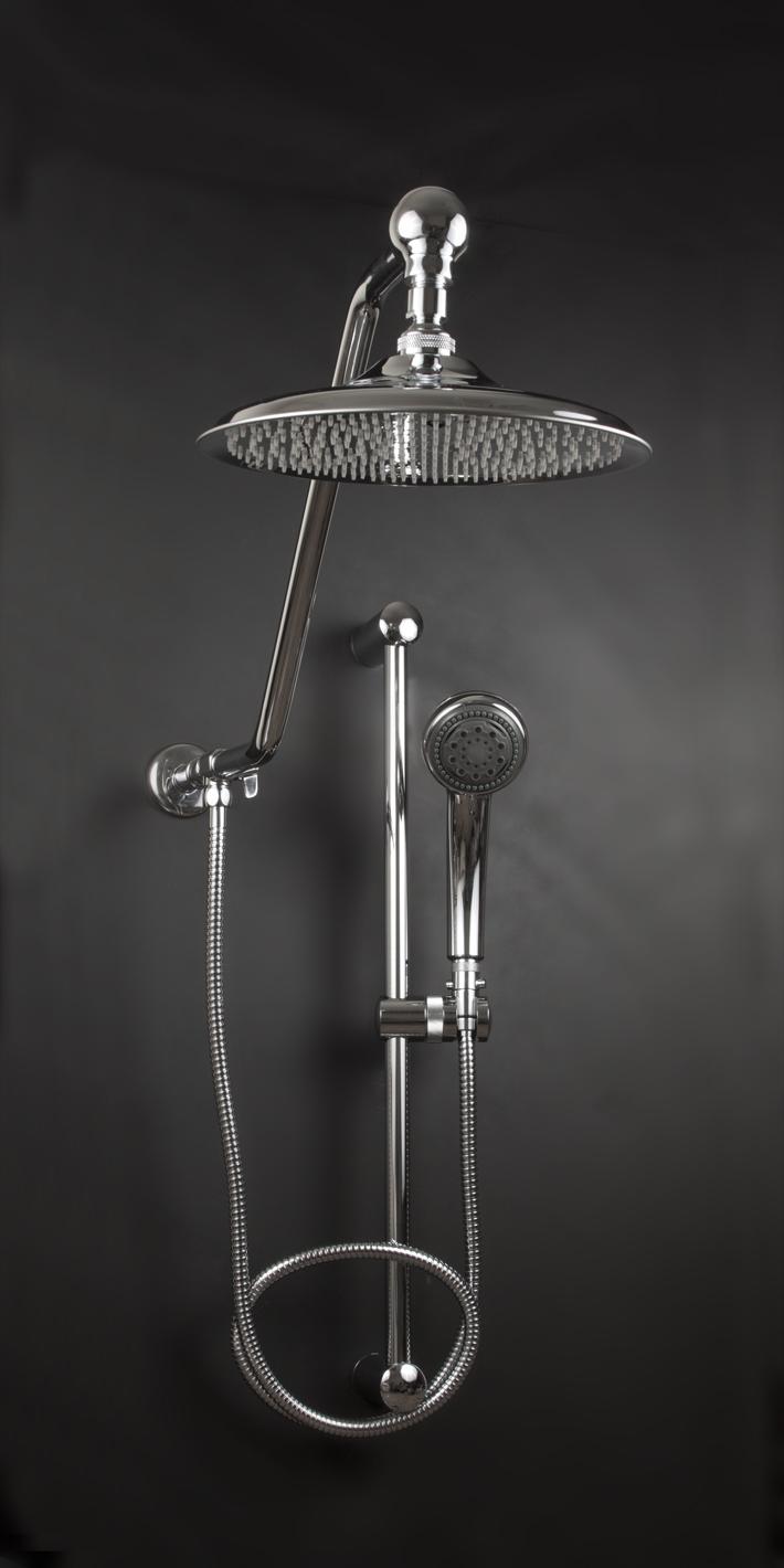 Rain Shower Head System With Handheld Rainforest Shower Head