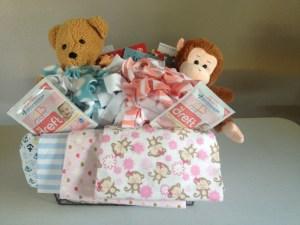 A Twin Boy & Girl basket