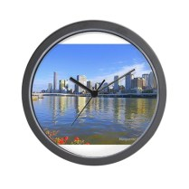 brisbane_water_view_wall_clock