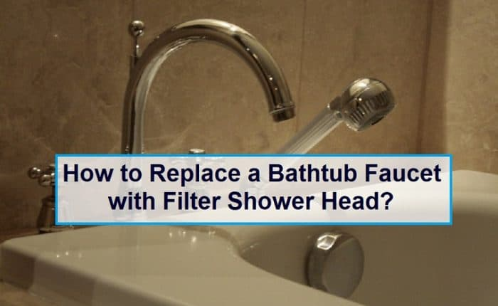 bathtub faucet with filter shower head