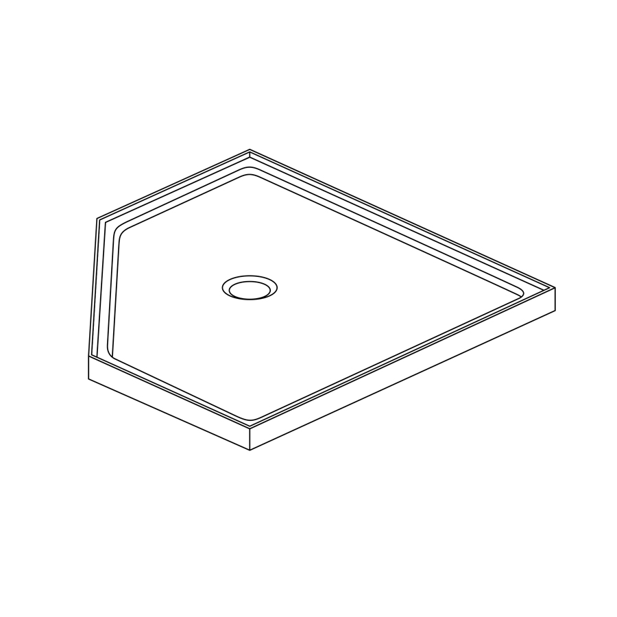 Acrylic Shower Tray 45 deg Corner - Showerwell Home Products