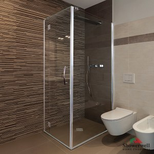 Tile Safe Shower System with 6mm Sterling Door