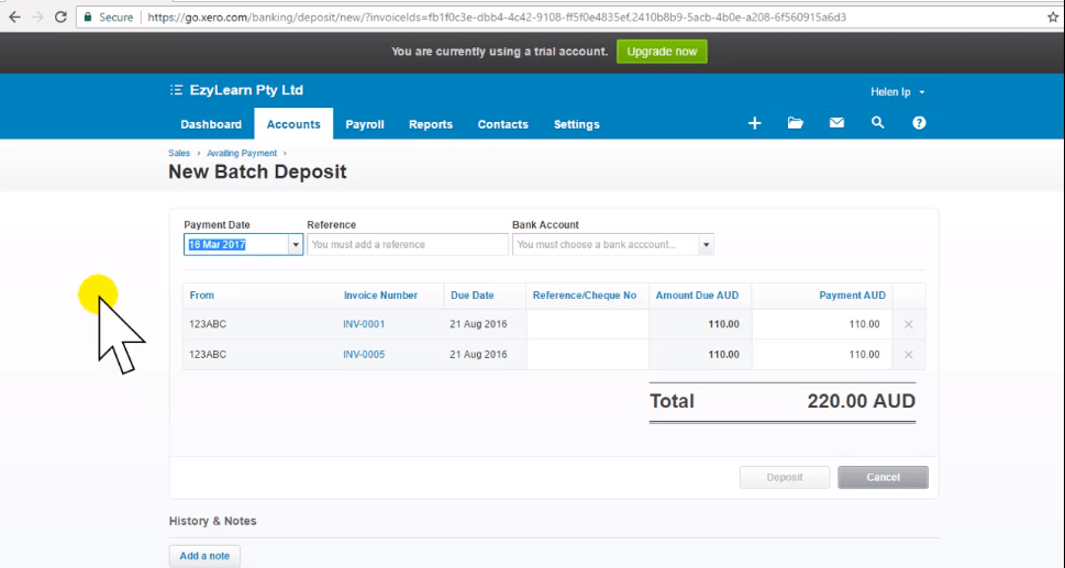 Xero Training - Receive Customer Payment for Multiple Invoices