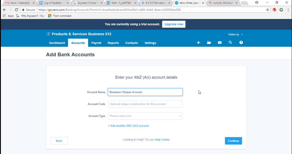 ACCTXER5120703 Xero Training - How to Add a Bank Account