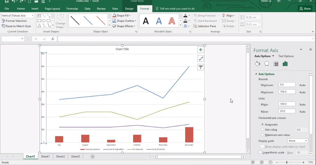 ADMNEXC305305 Excel Training - How to Format Chart Elements