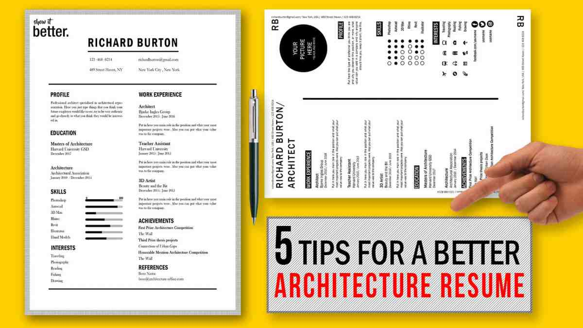Tips For A Better Architecture Resume Cv  Free Template Included