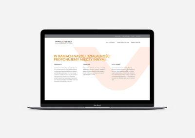 Projekt strony internetowej Provega