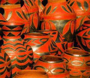 Venda decorated pots