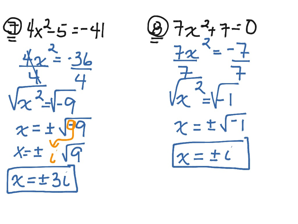 Solving Quadratics Using Square Roots