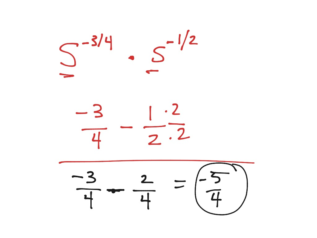 Simplify Fractions With Exponents