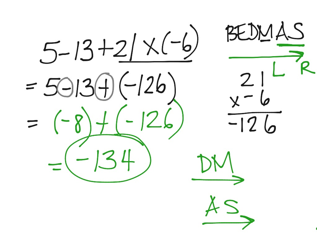 Math Section 4 7 Order Of Operations With Integers