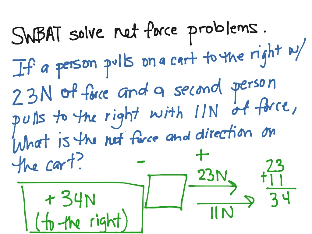Net Force Problems 2