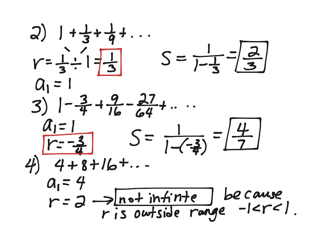 Infinite Geometric Series Part 1