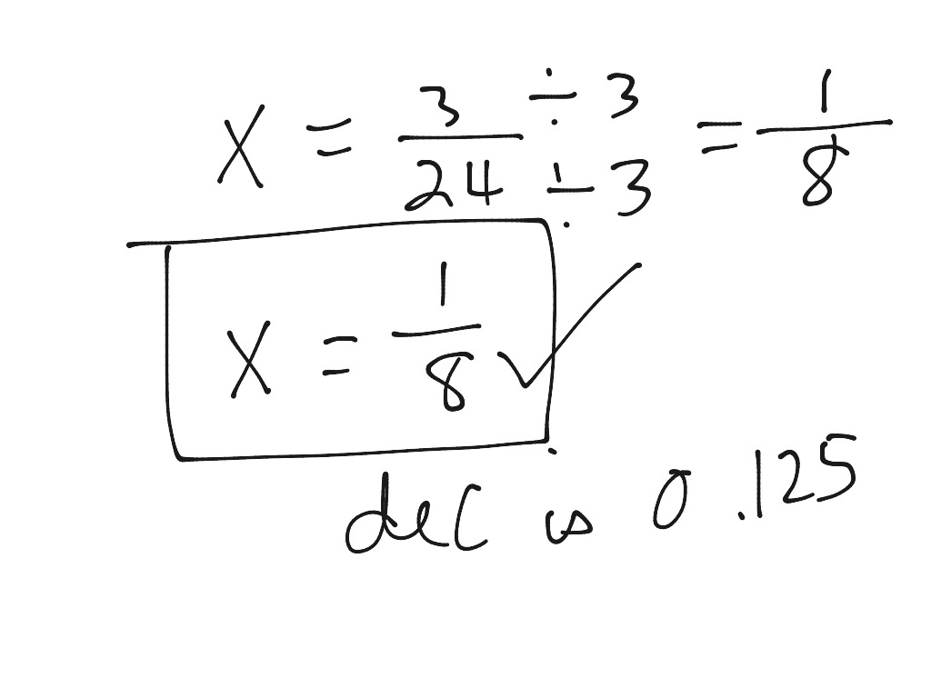 12 One Step Equation With Fractions