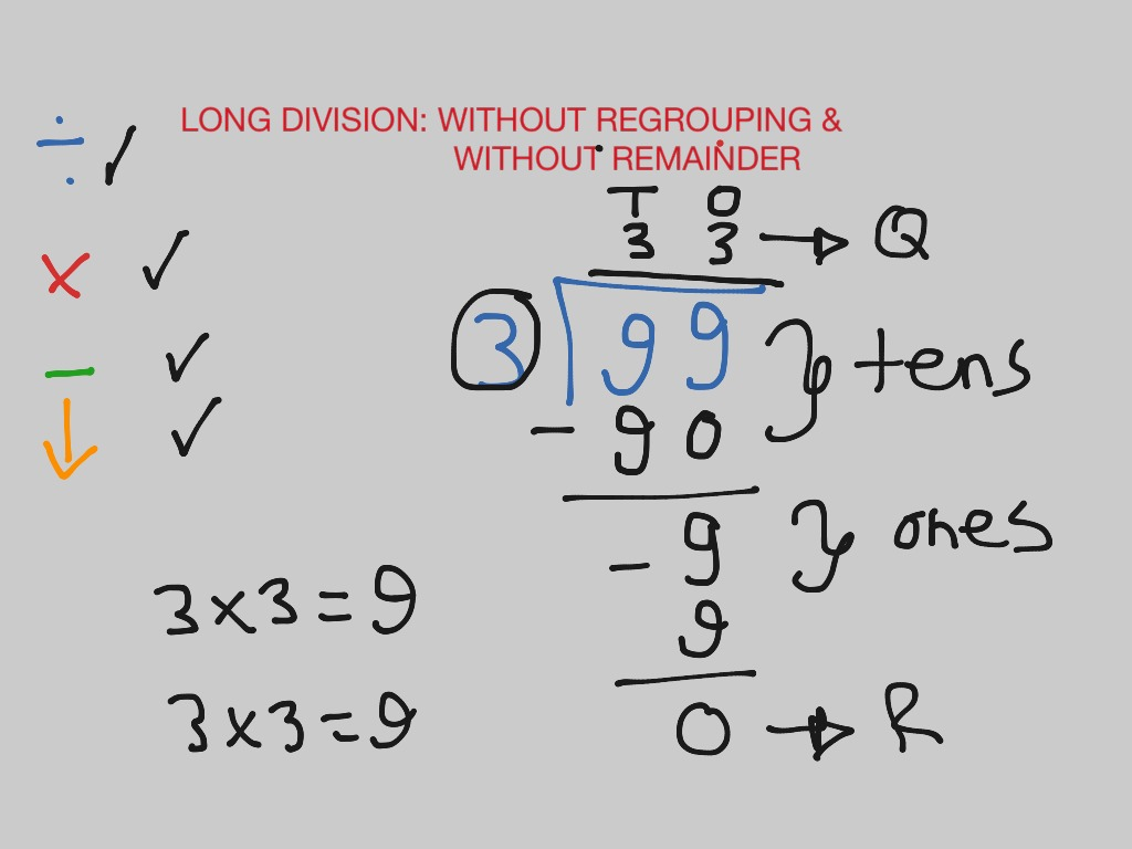 Long Division Without Regrouping Amp Without Remainder