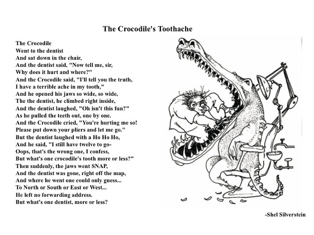 The Crocodile Toothache Shel Silverstein