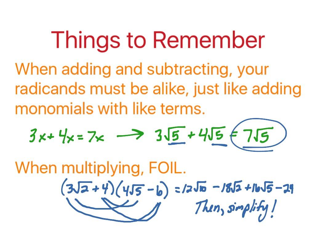 Radical Worksheet 2 Simplifying Radicals