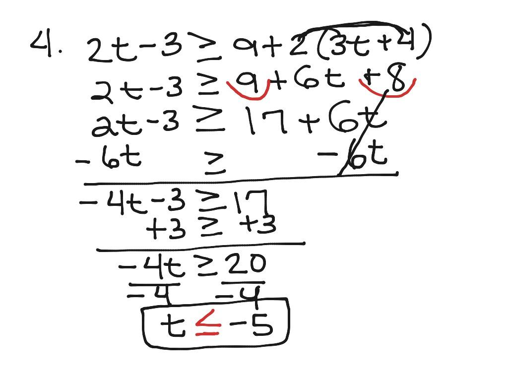 Solving Multi Step Equations Inequalities