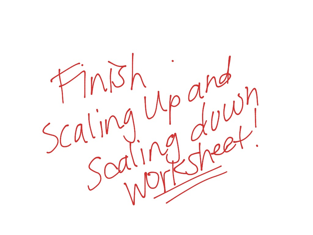Scaling Up And Down Worksheet