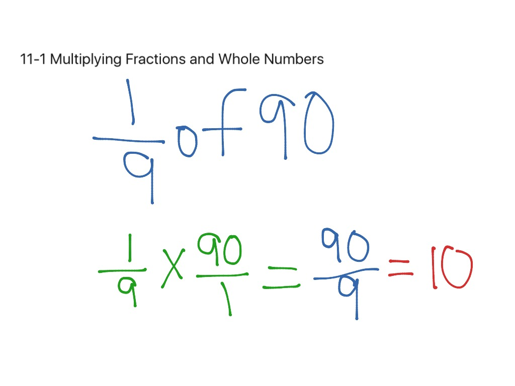 Multiply Fractions With Whole Numbers