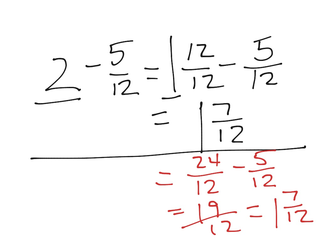 Renaming Fractions When Adding And Subtracting