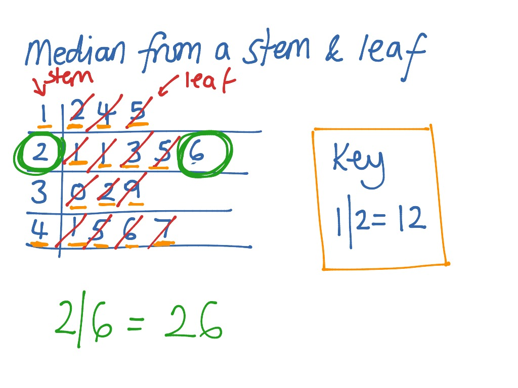 Median From A Stem And Leaf Diagram