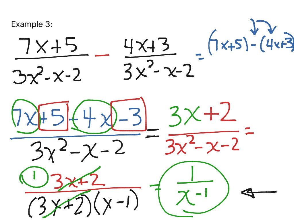 11 4 Adding And Subtracting Rational Expressions With Like