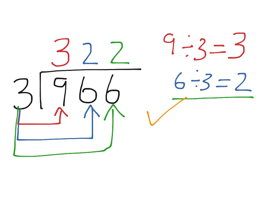 Short Division No Regrouping Or Remainders