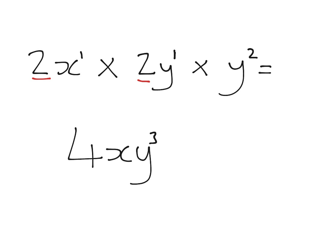 Multiplying Algebraic Terms Intro