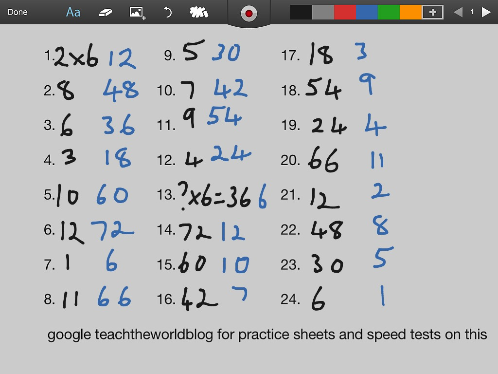6x Table Medium Fast Test