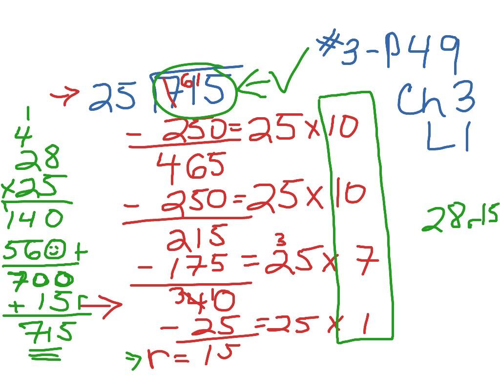 Ch3 L1 Dividing By 2 Digit Divisors Using Partial Quotient
