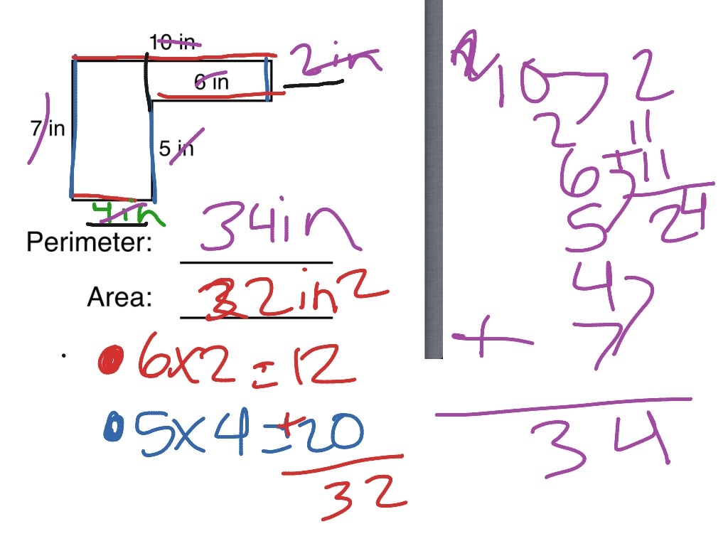 Finding Area And Perimeter Of An Irregular Polygon