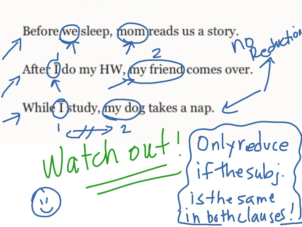 Reducing Adverb Clauses Of Time
