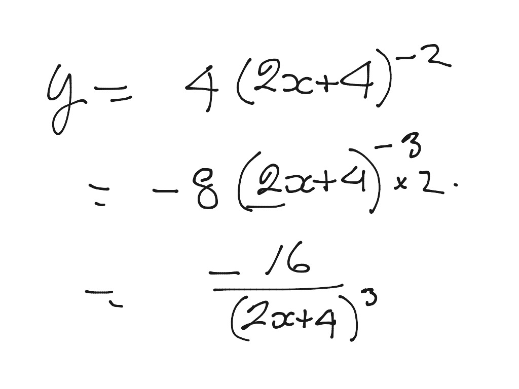 Chain Rule Quotient Rule Example