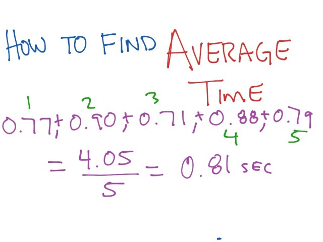 How to Calculate Average Time  Math  ShowMe