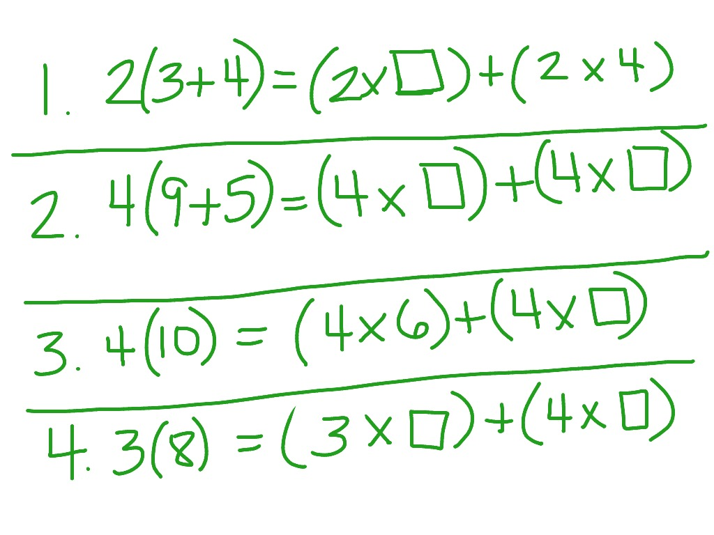 Math Worksheet Distributive Property Algebra