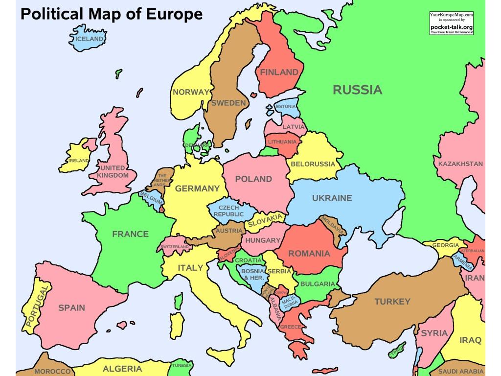 Mental Map Western Europe