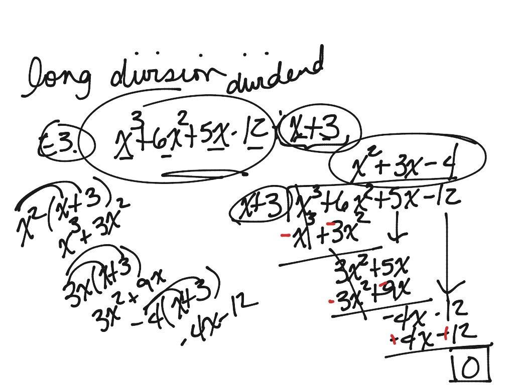 Algebra Iii Long Division