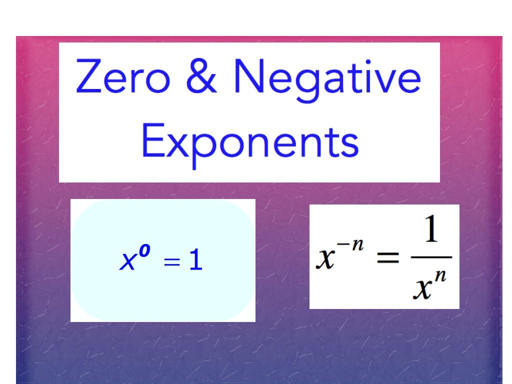 Zero Amp Negative Exponents
