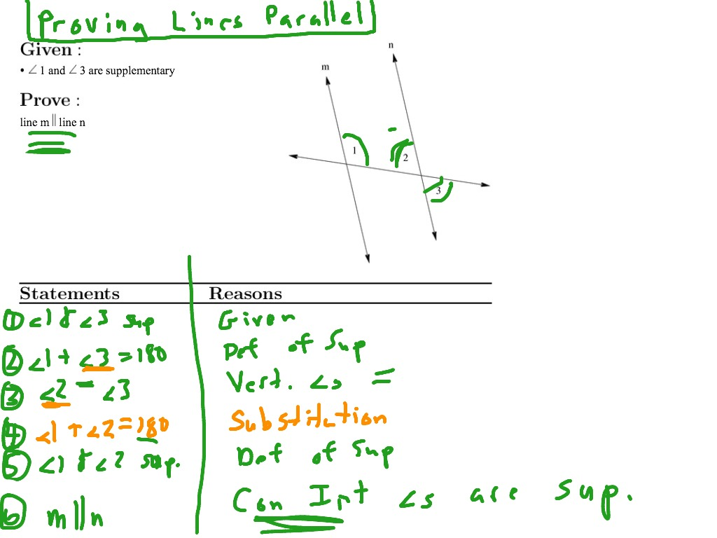 29 Parallel Lines Proofs Worksheet Answers
