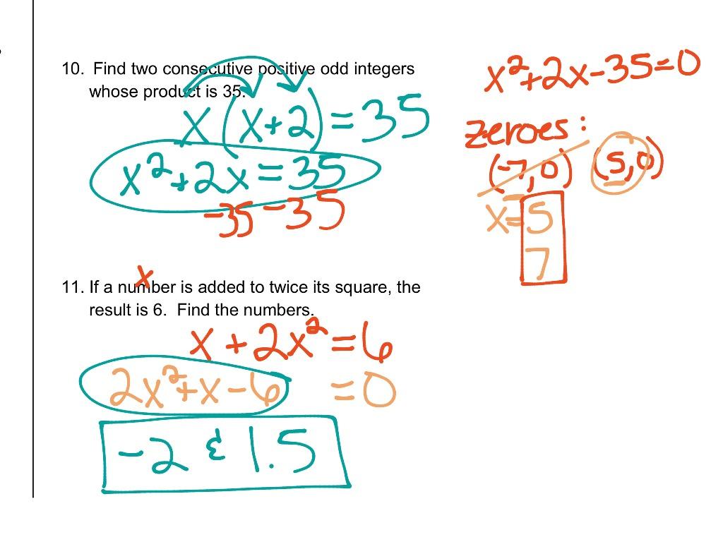 9 5 Solving Quadratics By Graphing