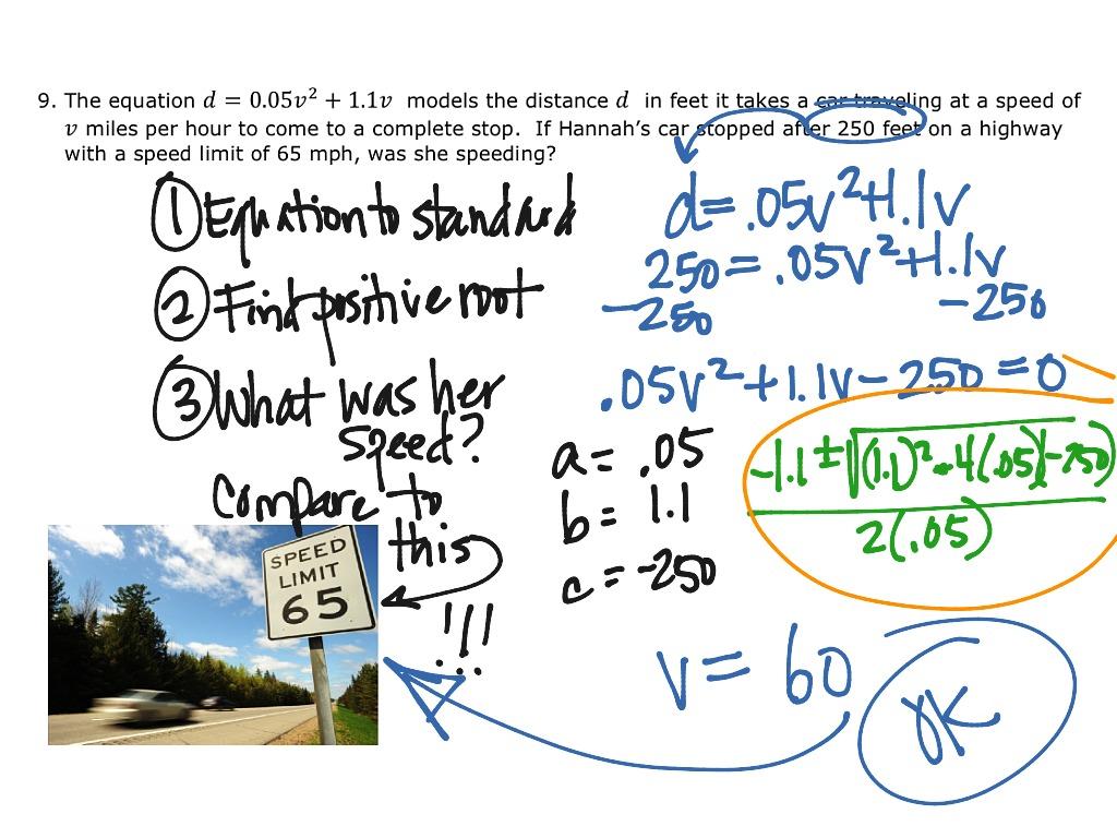 8 7 Solving By Quadratic Formula Day 2 Simplifying