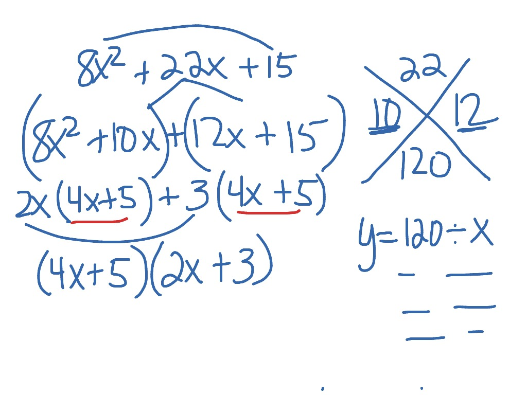 X Box Method Factoring