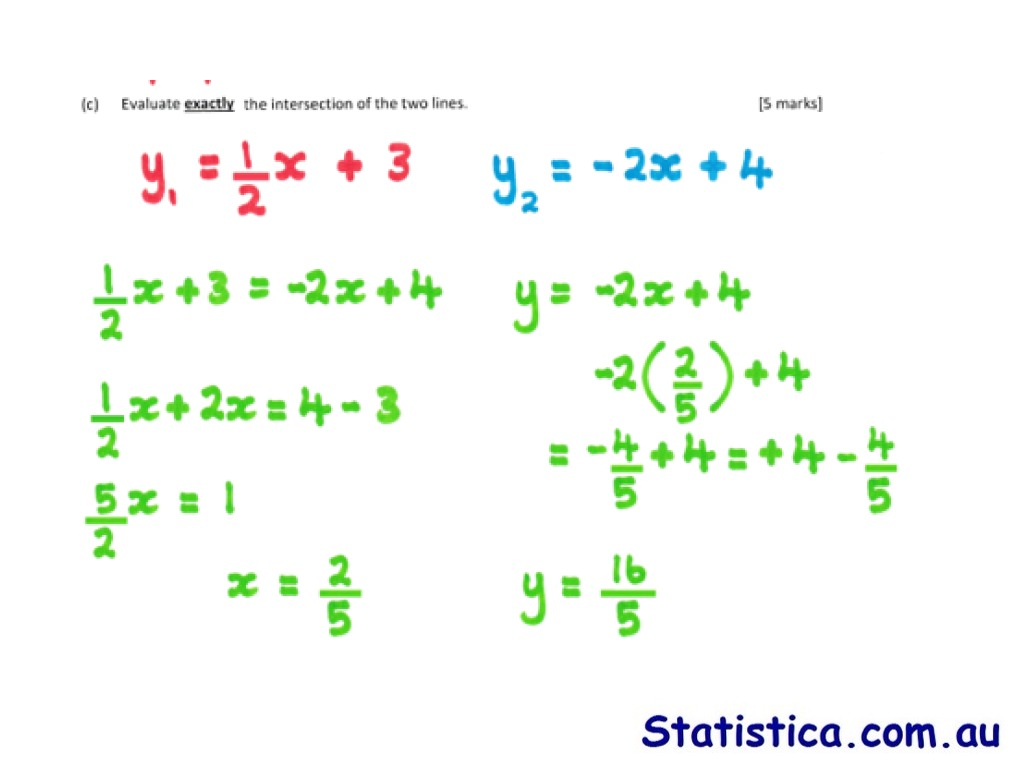 How To Write Parallel And Perpendicular Line Equations