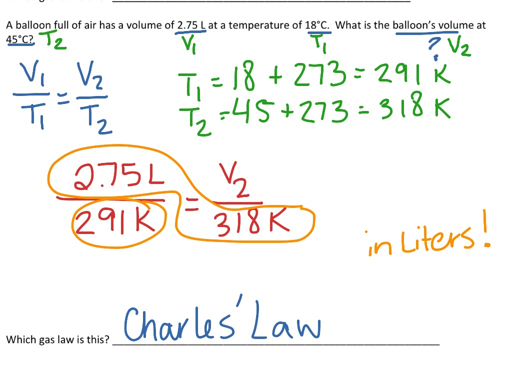 Charles Law Example Problem